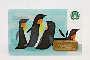 Starbucks Coffee 2014 Gift Card Penguins Holiday Zero Balance No Value 6013