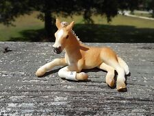 Hafling Foal Lying Down by Schleich/toy/horse/haflin ger/13292/Retired