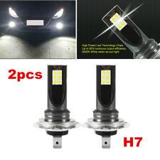 NEW 2x H7 6000K White COB 60W High Power LED Fog Light Car Driving Bulb DRL
