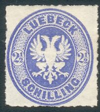 Lübeck Mi.-Nr.11A* (MICHEL EURO 150,00) feinst/pracht