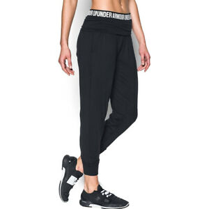 Under Armour UA HeatGear Uptown Joggers Ladies Pants Black Tracksuit Bottoms M