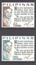 PHILIPPINES , 1963/73 , PRES. LAUREL , SET OF 2 ,  PERF,  MNH