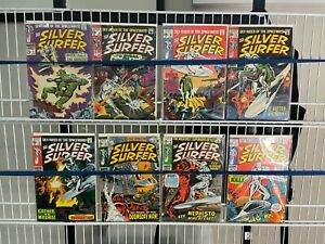 The Silver Surfer Marvel Comic Lot Silver Age 2 8 10 11 12 13 16 17