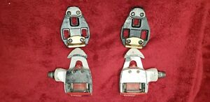 VINTAGE TIME MAGNESIUM CLIPLESS ROAD RACING BIKE PEDALS and cleats