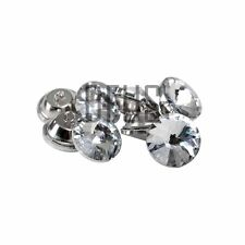 100 X 22mm Clear Diamante Crystal Upholstery Headboard Buttons Loop Back