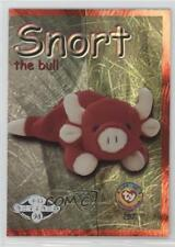 1999 Ty Beanie Babies Series 2 Chase Silver #287 Retired Snort the Bull Card 6t0