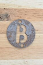 COOL INDUSTRIAL STYLE IRON LETTER B SIGN PLAQUE STENCIL