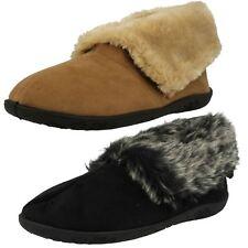 Ladies Padders Memory Foam Casual Slip On Boot Slippers Eskimo