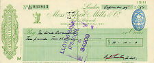 "glynn.mills & co "" holts branch whitehall london ""  september 29th 1951"