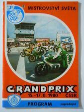 Original RENNPROGRAMM  WM Motorrad  1980 BRNO  CSSR