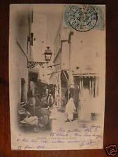 cpa algerie alger une rue de la casbah animee