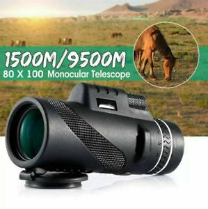 HD Zoom 80X100  Monokular Teleskop Stativ Telefon Kamera Starscope Zoom Wandern.