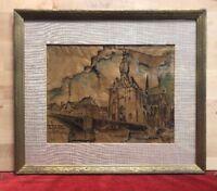Reimond Kimpe (1885-1970 ) Aquarelle Sur Papier  Dinant 1933
