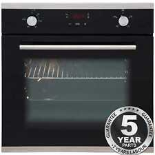 SIA SO103 60cm Black Built In Touch Control Single Electric True Fan Oven
