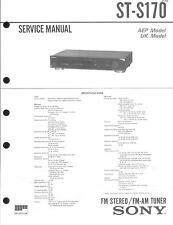 Sony Original Service Manual für ST-S 170