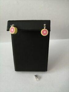 handmade fruit earrings drop/stud silver plated fixings