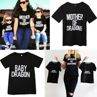 2018 Family Clothes Women Mother Kids Son Baby Girls Boy Shirt Tees Tops T-shirt