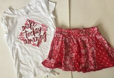 Euc Justice Make Today Amazing Top & Bandana Print Shorts 10/12