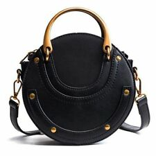 Metal Ring Handbag Outdoor Accessory New Women Circular Retro Bag Fashion Ladies
