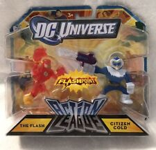 DC Universe Flashpoint Action League. The Flash And Citizen Cold   2011 Mattel.