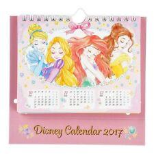 Disney Japan Princess Ariel Rapunzel Belle Cinderella Minnie Mouse Desk Calendar