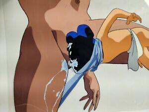 ADULT - LA BLUE GIRL Nin-Nin Nude Oral Cel & Sketch Animation Art Hand Painted