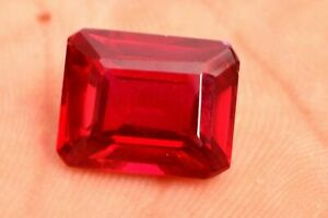 17.55 Cts 100% Natural Certified Mozambique blood red Ruby,Emerald Cut Gemstone