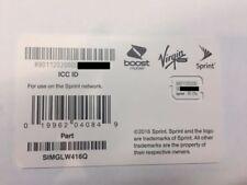 Sprint/Boost/Virgin nano sim card SIMGLW416Q 80.01