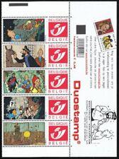 Belgium**TINTIN 7 CRYSTAL BALLS-5 DUOSTAMPS+SHEET MARGIN-BOULES DE CRYSTAL-2004-