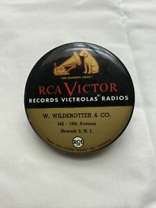 VTG RCA Victor NIPPER His Masters Voice Record Album Cleaner Brush Pad Newark NJ