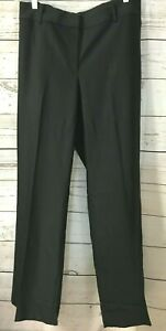 Ann Taylor Womens Dress Pants Size 18 Black Faint Stripe Lined Career