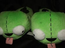 Adult XL 11-12 Green Alien Invader Zim Dog Ears Suit Gir Plush Slippers Shoes