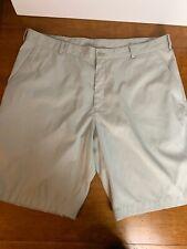 Nike Golf Sport Shorts Mens Size 38 Tan Beige Athletic Casual Flat Front Dri-Fit