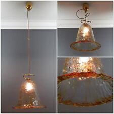 Vintage Italian Murano Glass Rise & Fall Pendant Light Fitting Mazzega ?