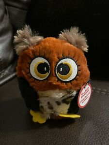 Ethical Hoots Owl Plush 4.75'' Squeaky Dog Toy