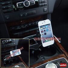 Car Phone/Mobile Mount Holder+USB+Cigarette Port Outlet Fit Apple iPhone 4/4S