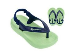 Ipanema Baby Flip Flops w Heel Strap - New no box - Green w/Navy  Size 6