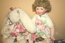 """The Hamilton Collection~""""Chelsea"""" Porcelain Doll with Bunny"""