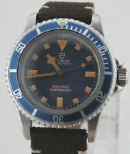 RARE Tudor Oyster Prince Submariner VINTAGE ref: 7928 Blue Dial Snowflake RARO