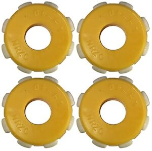 4 Pack 42mm Omni Wheel for 13mm Axle Multi-Directional for Robotics Yellow/White
