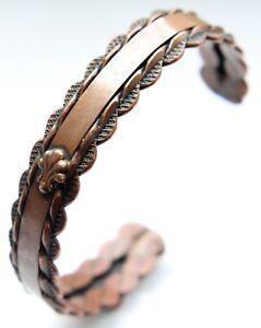 Vintage Decorated Copper Bracelet