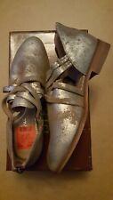 Diba True Women's New Heel Gold/Met Suede Size 8 1/2