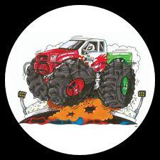 Koolart 4x4 4 x 4 Spare Wheel Graphic Monster Truck Red Dragon Sticker 1960