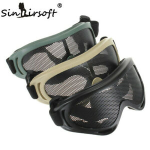 Tactical Airsoft Hunting Metal Mesh Lens Goggle Sports Safety Eyewear Glasses