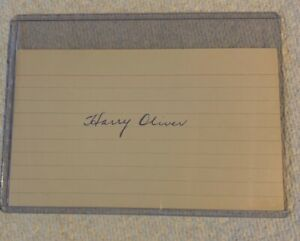 Harry Oliver Autograph 3x5 Index Card