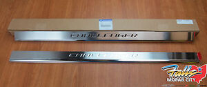 2008-2014 Dodge Challenger Stainless Steel Door Sill Guards Plates Mopar OEM