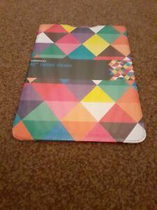 Sainsbury's Multicolour Diamond Design 10'' Tablet Protective Sleeve - NEW