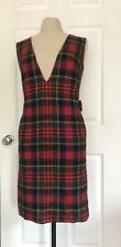 Vintage 1950s Pendleton Plaid School Uniform Sheath Dress 10 Modern Minimalist