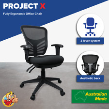 Mesh Chair Posture Comfort Office Chairs Ergonomic Soft Seating Adjustable Arms