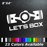 Lets box decal sticker pistons boxer engine toyota Subaru frs brz wrx forester